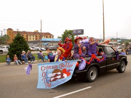 Crimson Belles in Dolly Parade